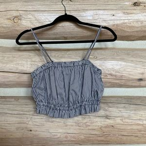Gingham crop top from urban outfitters